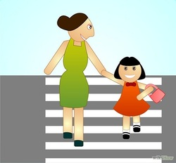 instill the need in children to always stop before stepping onto the road each time they stop tell them that they must look both ways and listen for
